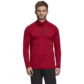 adidas TERREX Tracero Longsleeve T-shirt met 1/2 rits Heren, active maroon